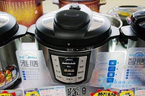 """此外这款电压力锅独有""""匚式结构""""将""""用蒸汽阀控制锅内压力""""改良为"""""""