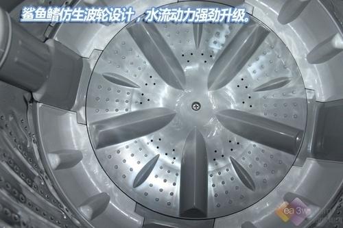 惠而浦d6576cbp洗衣机的外形设计采用了传统的波轮机造型,箱体采用8