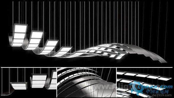 德国ART+COM日前推出能够在空中运动的LED灯具manta rhei,共有14条灯带组成一个1.2×2.4米的模板,可随意的组合添加以适合不同的空间大小。   整套灯具由电脑程序控制,可自由控制灯带的机械运动节奏和光的变化,就像在空中飞舞一般。