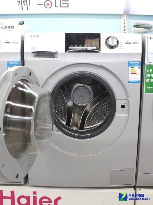 变频静音安静洗 海尔滚筒洗衣机3999元