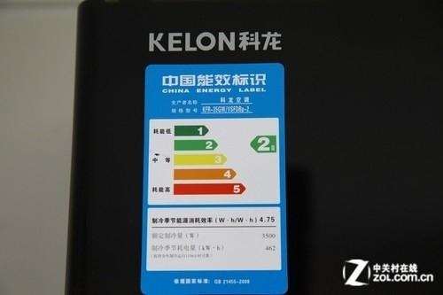 采用先进的直流变频压缩机,能耗级别为二级,相比同类产品中三级能耗