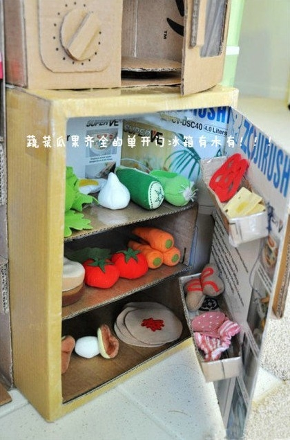 纸箱版迷你整体厨房