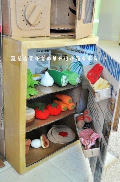 re:麻麻纯手工制作的纸箱版迷你整体厨房,实在是太震撼了; 纸箱版迷你图片
