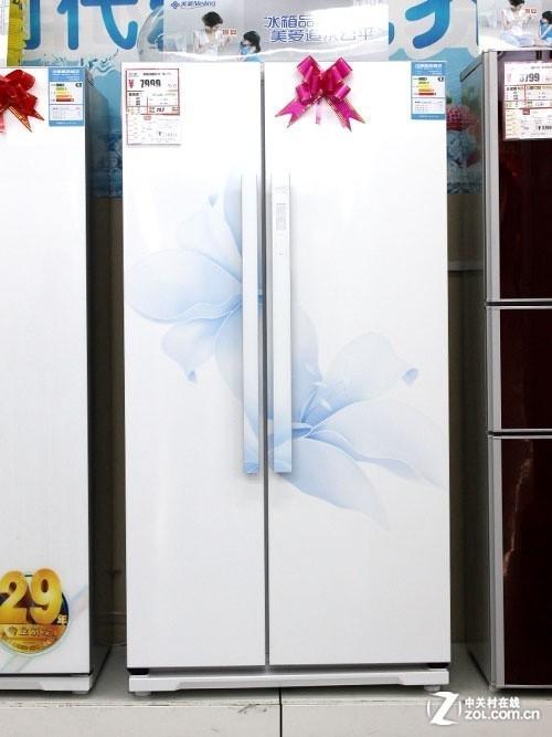 多功能鲜魔方 美菱对开门冰箱售7999元