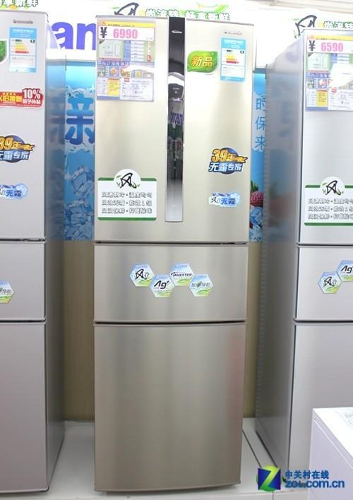 无霜制冷系统 松下三开门冰箱售6490元