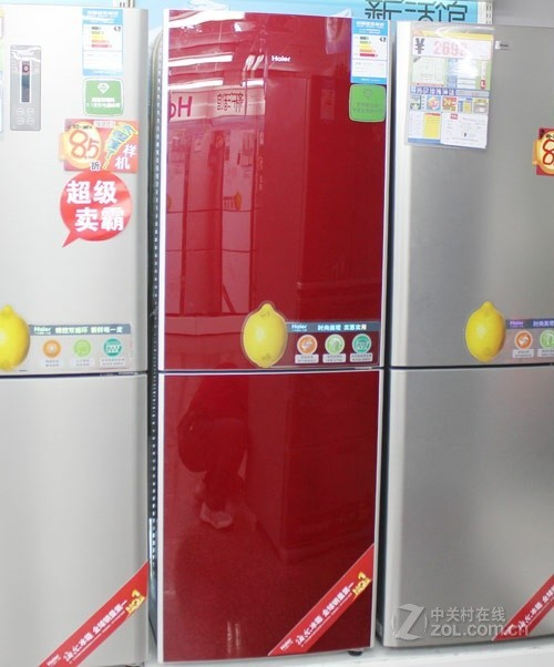 红色经典外观 海尔双开门冰箱售2499元