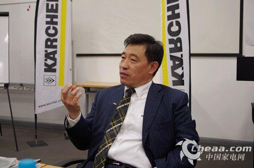 凯驰中国区总经理马宏在AWE2014上接受CHEAA记者采访(图)