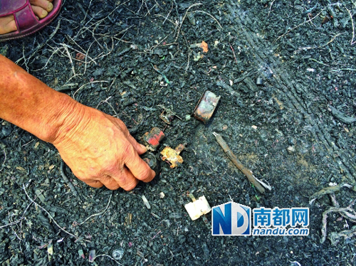 [记者走访]   村中小孩捡来电路板 顺藤摸瓜找到焚烧点   草木皆