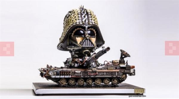 电子垃圾也有高价值 各类创意雕塑