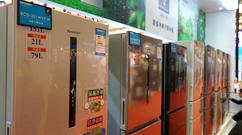 夏普凈離子群冰箱展示