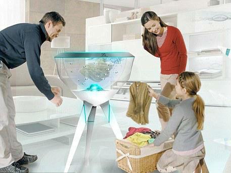 无需任何洗涤剂的PECERA小鱼概念洗衣机