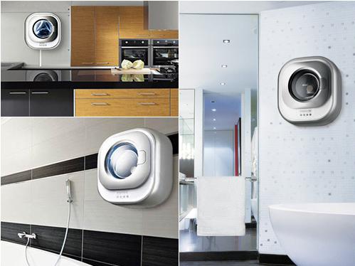 大宇全球首款壁挂式高温煮洗滚筒洗衣机