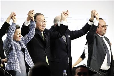 气候大会通过巴黎协定 升温控制在2℃内