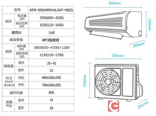 格兰仕空调内部做工扎实,电路板上部搭配了一块隔音棉,起到吸附