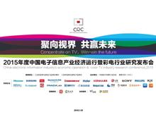 2015年度中国电子信息产业经济运行暨彩电行业研究发布会