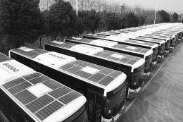 """[常州]首批""""气电混合""""型新能源公交车亮相"""