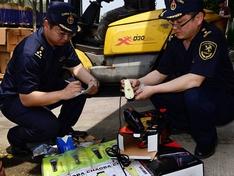 杭州海关环保销毁一批侵权小家电产品