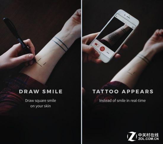 每日佳软:AR新技术 让你体验无痛纹身