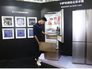 卡萨帝全球首创红外恒温冰箱亮相微观艺术展
