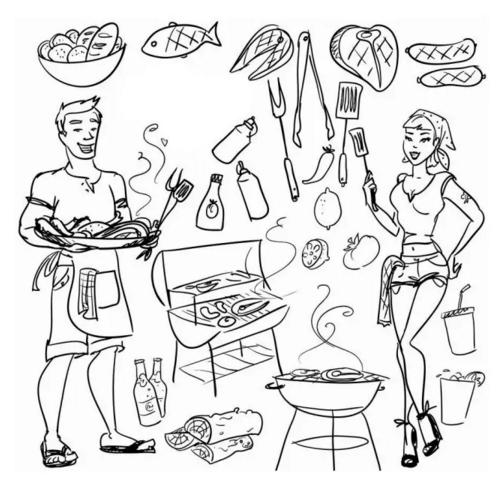 简笔画厨房图片大全