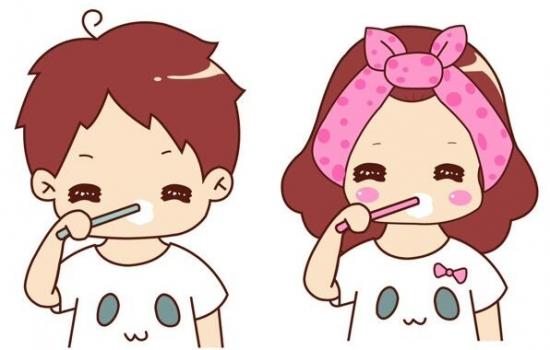 幼儿自己刷牙简笔画