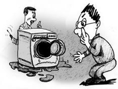 洗衣机维修惹纠纷 警方介入成功调解