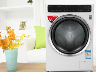健康蒸汽速净喷淋 LG臻净滚筒洗衣机评测