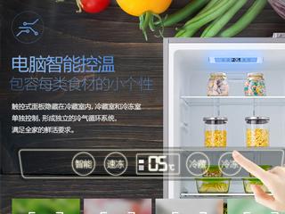 智能控温鲜有不同 美的大容积双门冰箱走俏