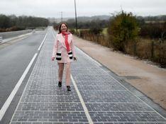 """世界首条""""太阳能公路""""在法国建成通车"""