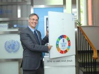 海尔发明全空间保鲜冰箱入驻联合国大楼