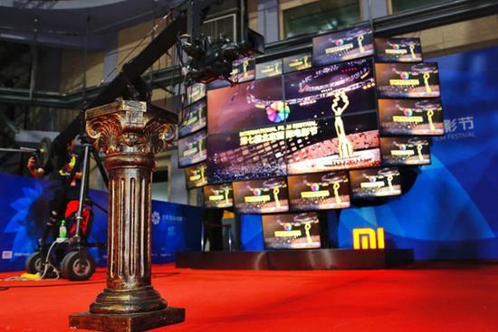 18屏的小米电视墙 北京国际电影节上演