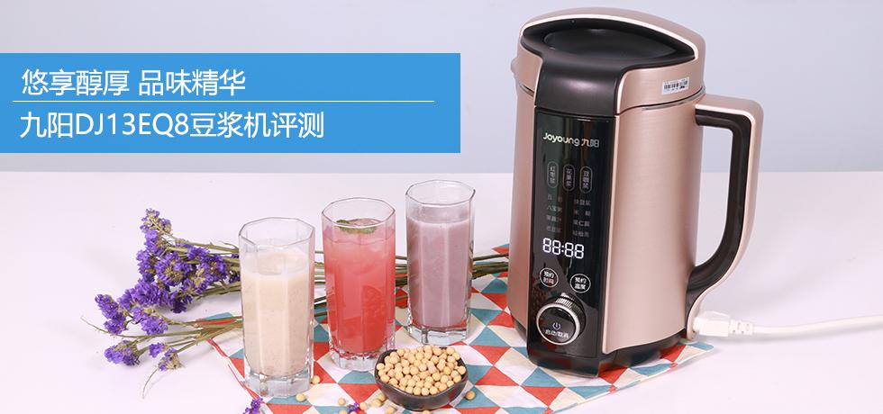 悠享醇厚品味精华 九阳DJ13EQ8豆浆机评测