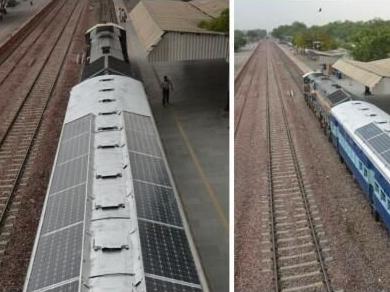 印度首现太阳能列车 10年有望节省60亿美元