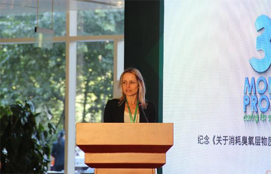 联合国环境规划署臭氧秘书处执行秘书蒂娜.玻比利