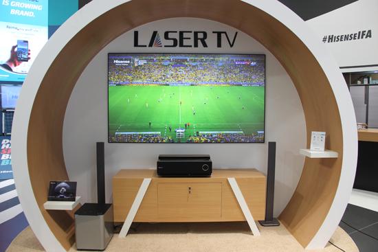 IFA2017海信展示的激光电视