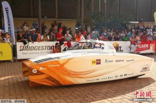 世界太阳能车挑战赛掀幕 21国42车参加