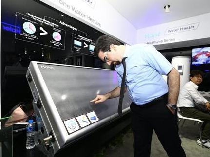 海尔展出世界首个没有水箱的太阳能