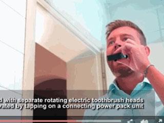 刷牙只需3秒?英国工程师发明智能牙刷