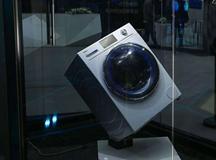 海尔洗衣机斜立画框挑战不可能展示静音科技