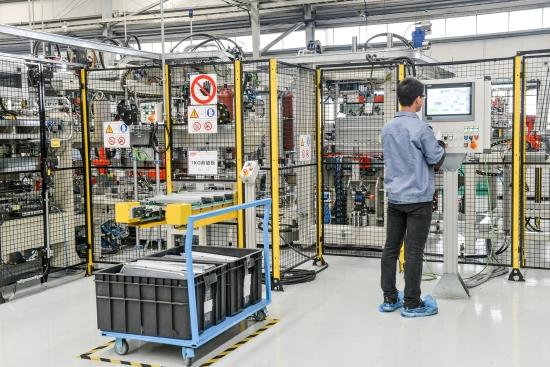 格兰仕全自动化滚筒洗衣机生产线