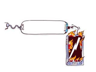"""手机充电起火,为何没""""三包""""服务呢?"""