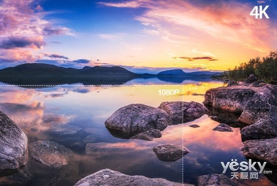 打开想象中世界的画面 4K超清电视你值得拥有