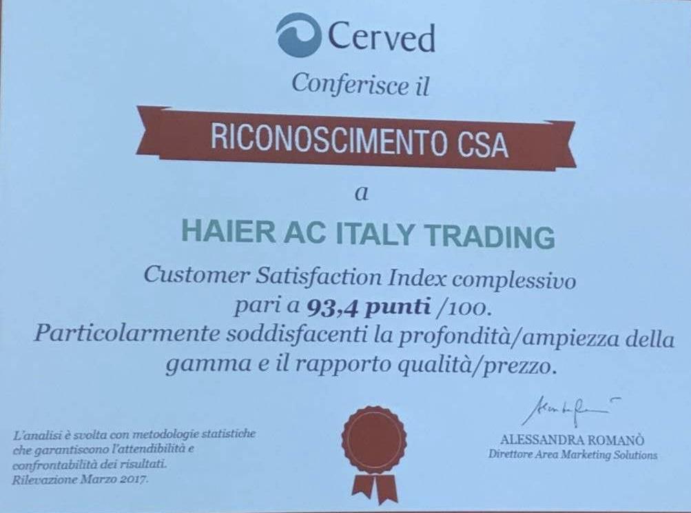 18年超越17个品牌 海尔空调成意大利主流品牌