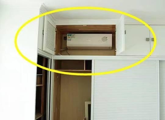 还有这种操作?聪明的人类把空调装在了衣柜里
