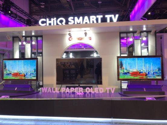 "在""壁纸""上体验人工智能 CES2018长虹推Wall Paper OLED TV"