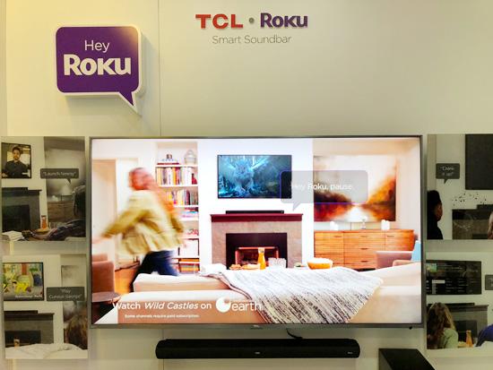 动动嘴就能控制 TCL Roku智能Soundbar亮相CES