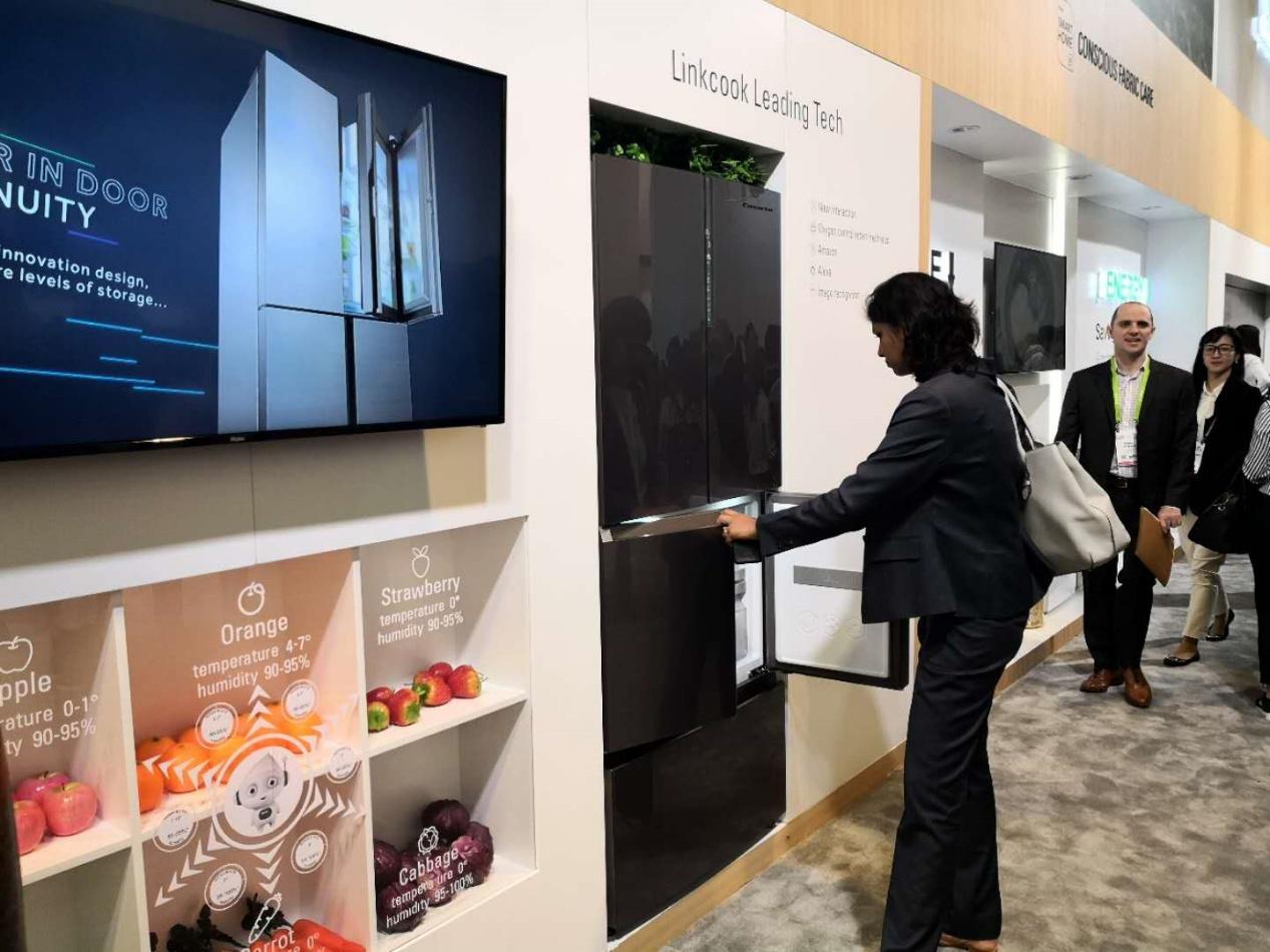 冰箱控温保鲜有了替代 卡萨帝CES发布F+控氧冰箱