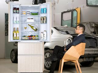 统帅木纹冰箱破常规征服福布斯设计师