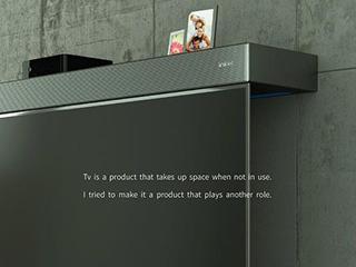 """这款电视自带""""电视柜"""" 节省空间还能变角度"""