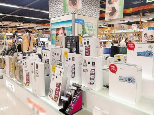 实测值和产品宣传不相符成空气净化器